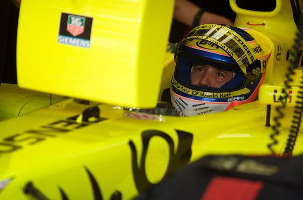 2001 Malaysian Grand Prix.Sepang, Kuala Lumpur, Malaysia. 16-18 March 2001.Jarno Trulli (Jordan Honda).World Copyright - Steve Etherington/LAT Photographic.ref: 18mb Digital Image