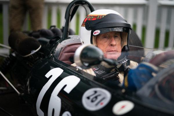 Sir Jackie Stewart in cockpit. Photo: Nick Dungan/Goodwood