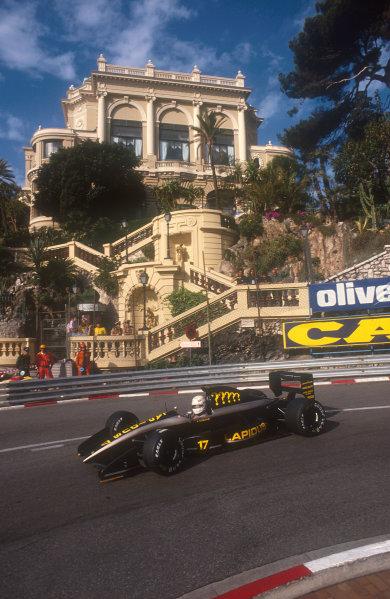 1990 Monaco Grand Prix.Monte Carlo, Monaco.25-27 May 1990.Gabriele Tarquini (AGS JH25 Ford) at Loews Hiarpin. He failed to pre-qualify.Ref-90 MON 31.World Copyright - LAT Photographic