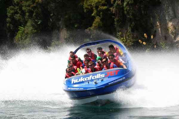 22.01 2009 Taupo, New Zealand, A1GP Drivers - Hukafalls jet boat ride - A1GP World Cup of Motorsport 2008/09, Round 4, Taupo, Thursday - Copyright A1GP - Free for editorial usage