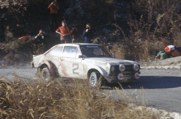1979 World Rally Championship.Monte Carlo Rally, Monaco. 20-26 January 1979.Bjorn Waldegaard/Hans Thorszelius (Ford Escort RS), 1st position.World Copyright: LAT PhotographicRef: 35mm transparency 79RALLY10