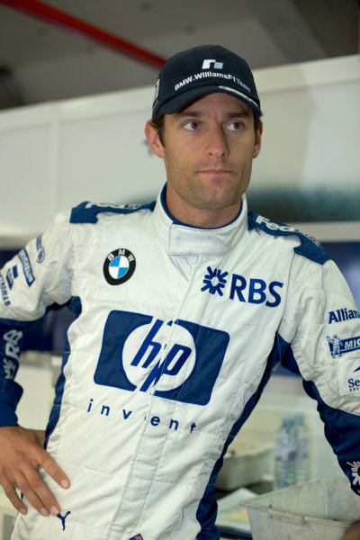 2005 French Grand Prix - Thursday Preview,Magny-Cours, France 30th June 2005Mark Webber, Williams F1 BMW FW27, Portrait. World Copyright: Steven Tee/LAT Photographic ref:Digital Image Only 48 mb file