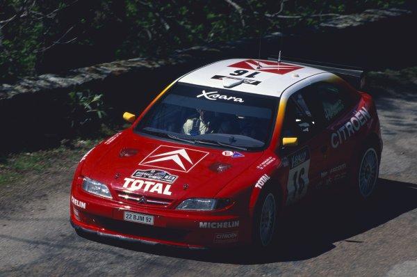 1999 World Rally Championship.Tour de Corse, Corsica, France. 6-9 May 1999.Philippe Bugalski/Jean-Paul Chiaroni (Citroen Xsara Kit Car), 1st position.World Copyright: LAT PhotographicRef: 35mm transparency 99RALLY17