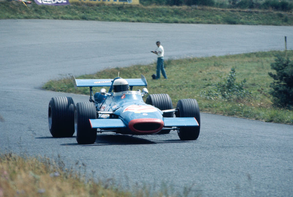 """1969 German Grand Prix F2 Class.Nurburgring, Germany. 1-3 August 1969.Georges """"Johnny"""" Servoz-Gavin (Matra MS7 Ford/F2).Ref-69 GER 25.World Copyright - LAT Photographic"""