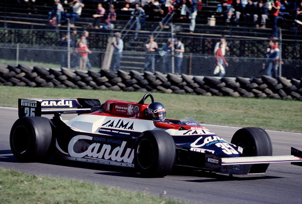 1981 Canadian Grand Prix.Montreal, Quebec, Canada.25-27 September 1981.Brian Henton (Toleman TG181 Hart).Ref-81 CAN 35.World Copyright - LAT Photographic