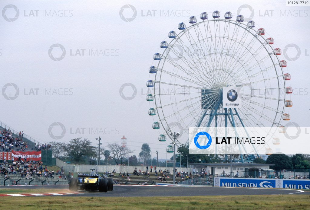 2003 Japanese Grand PrixSuzuka, Japan. 10th - 112th October 2003.Renault F1 Sceneic action.World Copyright: PICME / LAT Photographic ref: 35mm Image 03JAP13