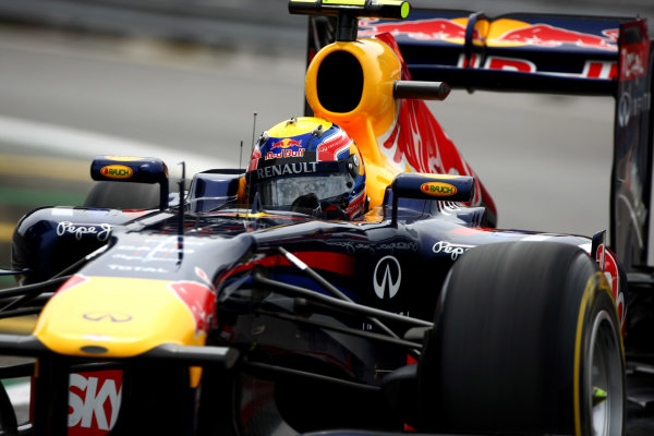 Interlagos, Sao Paulo, Brazil26th November 2011Mark Webber, Red Bull Racing RB7 Renault. Action. World Copyright: Andy Hone/LAT Photographicref: Digital Image CSP28995