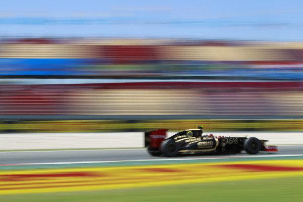 Circuit de Catalunya, Barcelona, Spain11th May 2012Romain Grosjean, Lotus E20 Renault. World Copyright:Andrew Ferraro/LAT Photographicref: Digital Image  _Q0C8703