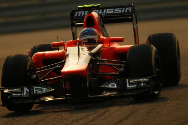2012 Indian Grand Prix - Friday Buddh International Circuit, New Delhi, India. 26th October 2012. Charles Pic, Marussia MR01 Cosworth.  World Copyright:Andrew Ferraro/LAT Photographic ref: Digital Image _Q0C8585