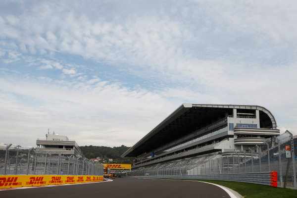 2014 GP3 Series. Round 8.   Sochi Autodrom, Sochi, Russia.  Wednesday 8 October 2014.  The main grandstand Photo: Sam Bloxham/GP3 Series Media Service. ref: Digital Image _G7C4494