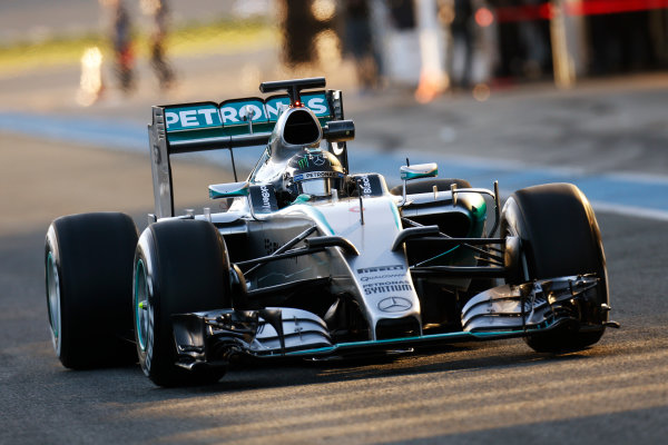 2015 F1 Pre Season Test 1 - Day 1 Circuito de Jerez, Jerez, Spain. Sunday 01 February 2015. Nico Rosberg, Mercedes F1 W06 Hybrid. World Copyright: Alastair Staley/LAT Photographic. ref: Digital Image _79P8471
