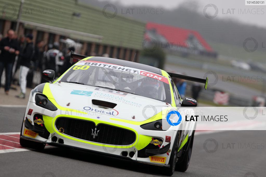 2016 British GT Championship, Media Day, Snetterton, 15 March 2016. Abbie Eaton / Marcus Hoggarth Ebor GT Maserati GranTurismo MC  World copyright. Ebrey/LAT Photographic