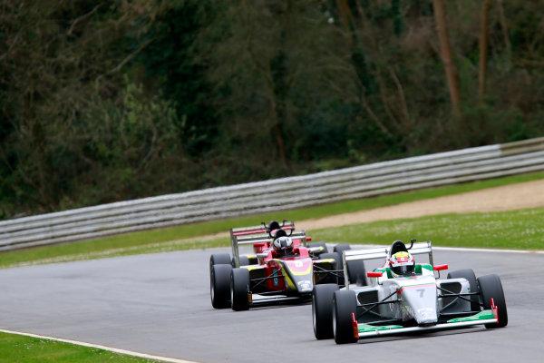 2016 BRDC British Formula 3 Championship, Brands Hatch, Kent. 16th - 17th April 2016. Al Faisal Al Zubair (OMA) Fortec Motorsports BRDC F3. World Copyright: Ebrey / LAT Photographic.
