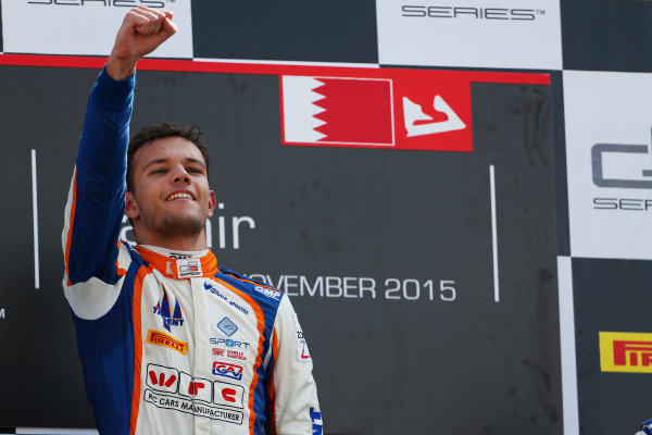 2015 GP3 Series Round 8. Bahrain International Circuit, Bahrain Saturday 21 November 2015. Luca Ghiotto (ITA, Trident)  Photo: Sam Bloxham/GP3 Series Media Service. ref: Digital Image _SBL4911