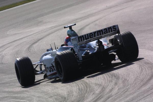 2003 European Grand Prix - Friday 1st Qualifying,Nurburgring, Germany.27thth June 2003.Justin Wilson, Minardi PS03, actionWorld Copyright LAT Photographic.Digital Image Only.