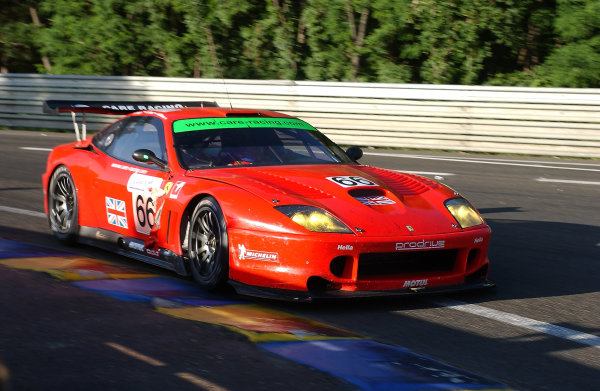2004 Le Mans 24 Hours.Le Mans, France. 12th-13th June 2004.Menu/Kox/Enge (Prodrive Racing Ferrari 550 Maranello) action.World Copyright: Jeff Bloxham/LAT Photographicref: Digital Image Only