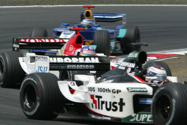 2003 European Grand Prix - Sunday RaceNurburgring, Germany.29th June 2003.Jos Verstappen, Minardi PS03, action.World Copyright LAT Photographic.Digital Image Only.