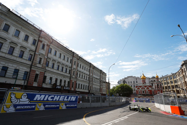 2014/2015 FIA Formula E Championship. Moscow ePrix, Moscow, Russia. Saturday 6 June 2015 Antonio Garcia (SPA)/China Racing - Spark-Renault SRT_01E. Photo: Zak Mauger/LAT/Formula E ref: Digital Image _L0U0590