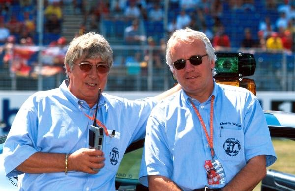 Herbie Blash, left and Charlie Whiting of the FIA