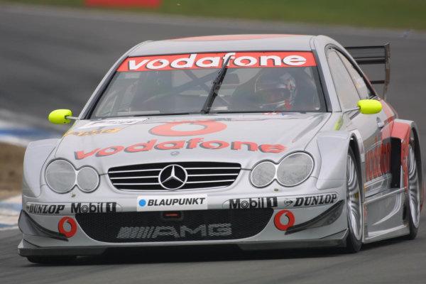 2002 DTM Championship.Hockenheim, Germany. 20-21 April 2002.Bernd Schneidre, Vodafone AMG-Mercedes.World Copyright: Spinney/LAT Photographic.Ref.: 8 5mb Digital Image Only.