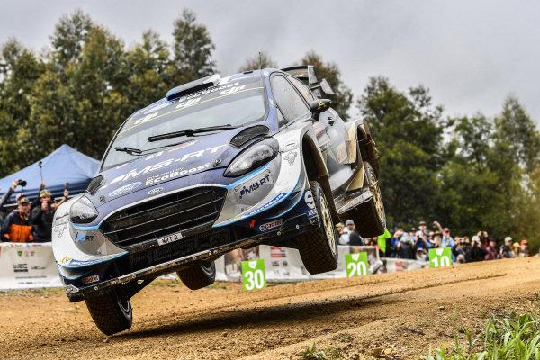 Ott Tanak (EST) / Martin Jarveoja (EST), M-Sport World Rally Team Ford Fiesta WRC at World Rally Championship, Rd13, Rally Australia, Day Three, Coffs Harbour, New South Wales, Australia, 19 November 2017.