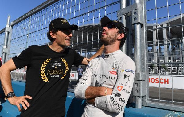 Jean-Eric Vergne (FRA), DS TECHEETAH on the grid with Pedro de la Rosa