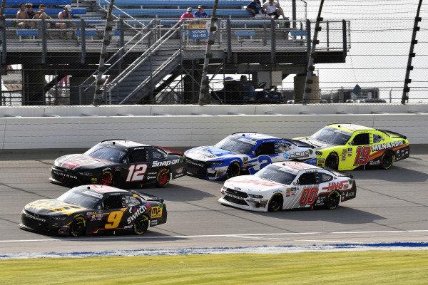 #9: Noah Gragson, JR Motorsports, Chevrolet Camaro MagnaFlow and #12: Joey Logano, Team Penske, Ford Mustang Snap on