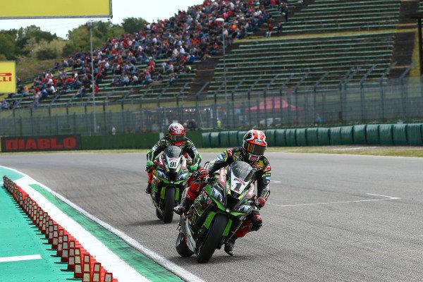Jonathan Rea, Kawasaki Racing Team, Leon Haslam, Kawasaki Racing Team.