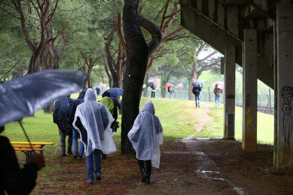 Fans leaving after WorldSBK race2 cancelled.