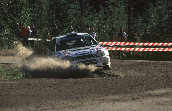WRC Neste Rally of Finland 200017th - 20th August 2000. Rd 9/13.Hari Rovenpera - 3rd place for Peugeot.Photo:McKlein/LATRef 35mm A03