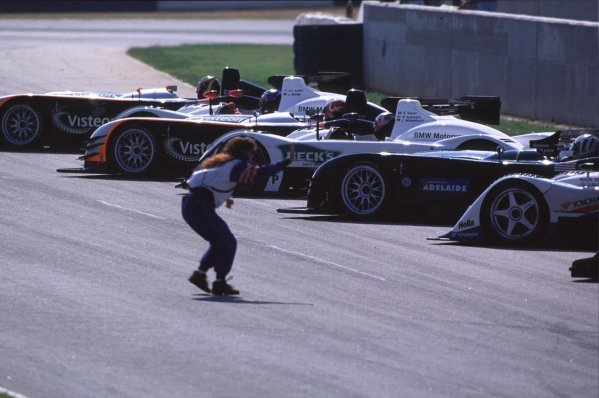 1999 American Le Mans Series.Road Atlanta, USA.17-19 September 1999.The cars line up in the pit lane.World - Tee/LAT Photographic