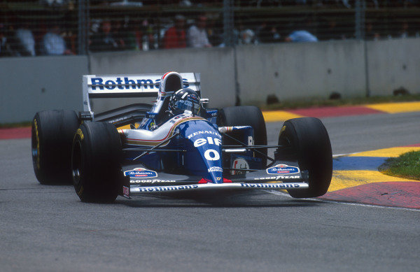 1994 Australian Grand Prix.Adelaide, Australia.11-13 November 1994.Damon Hill (Williams FW16B Renault). He exited the race after he was hit by Michael Schumacher when he made a move to take the lead of the race.Ref-94 AUS 22.World Copyright - LAT Photographic