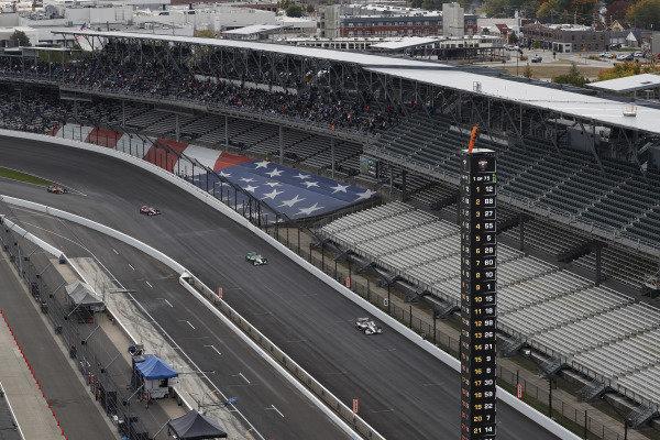 #12: Will Power, Team Penske Chevrolet, #88: Colton Herta, Andretti Harding Steinbrenner Autosport Honda, #27: Alexander Rossi, Andretti Autosport Honda