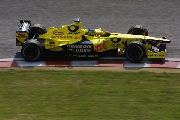 2001 Japanese Grand Prix - Friday / PracticeSuzuka, Japan. 20th October 2001.Jean Alesi (Jordan).World Copyright - LAT Photographicref: 8 9 MB Digital