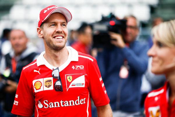 Suzuka Circuit, Japan. Thursday 05 October 2017. Sebastian Vettel, Ferrari. World Copyright: Andy Hone/LAT Images  ref: Digital Image _ONZ1228