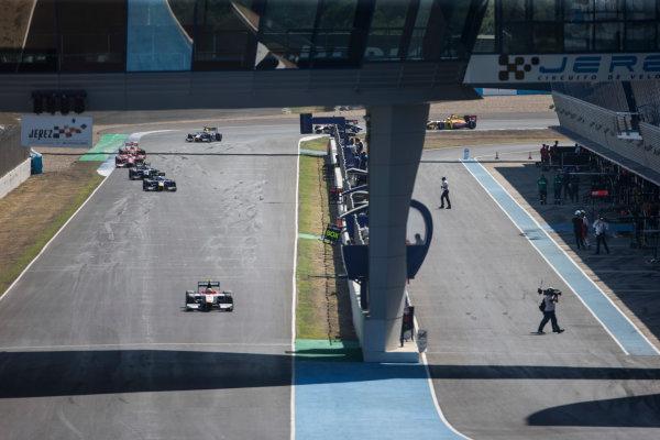 2017 FIA Formula 2 Round 10. Circuito de Jerez, Jerez, Spain. Sunday 8 October 2017. Alex Palou (JPN, Campos Racing).  Photo: Andrew Ferraro/FIA Formula 2. ref: Digital Image _FER3374