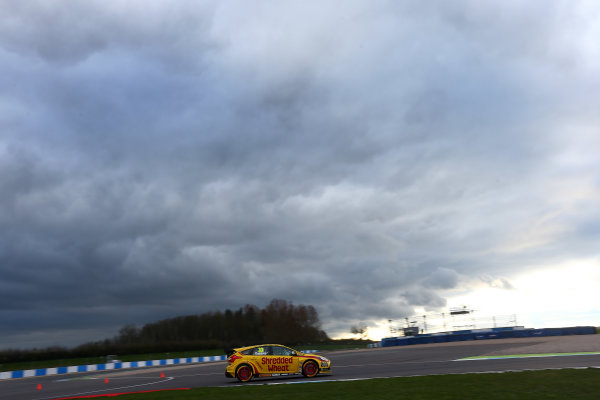 2017 British Touring Car Championship, Donington Park, England. 16th March 2017, Martin Depper (GBR) Team Shredded Wheat Racing with Duo Ford Focus World copyright. JEP/LAT Images