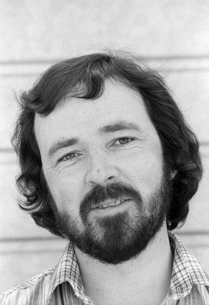 Maurice Hamilton (GBR) Journalist.Formula One Testing, Brands Hatch, England, c. June 1978.