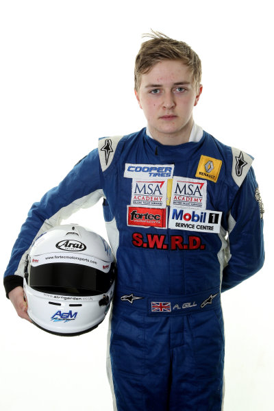 2014 British Formula 3 International Series, Media Day. Donington Park, Leicestershire. 8th April 2014. Alex Gill (GBR) Fortec Motorsports Dallara Mercedes. World Copyright: Jakob Ebrey / LAT Photographic.