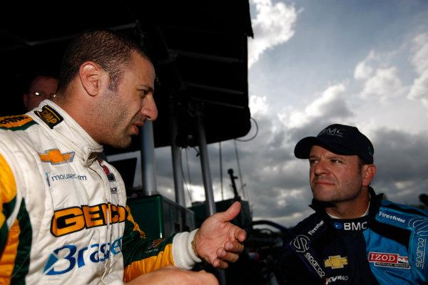 5-9 March, 2012, Sebring, Florida, USATony Kanaan and Rubens Barrichello(c)2012, Michael L. LevittLAT Photo USA