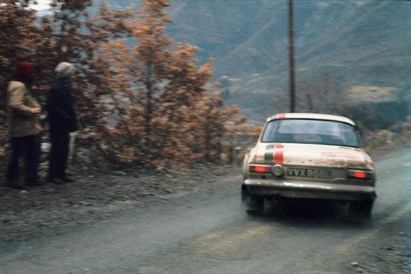 Monte Carlo, Monaco. 19-26 January 1973.Chris Sclater/John Davenport (Ford Escort RS1600), 16th position, action. World Copyright: LAT Photographic.Ref:  73WRC MC02