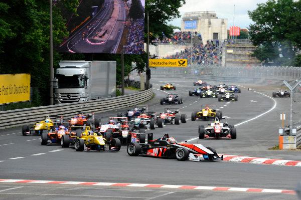 2014 FIA European F3 Championship Round 6 - Norisring, Germany. 27th - 29th June 2014 Max Verstappen (NED) VAN AMERSFOORT RACING Dallara F312 Volkswagen World Copyright: XPB Images / LAT Photographic  ref: Digital Image 3191138_HiRes