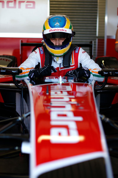 FIA Formula E Test Day, Donington Park, UK.  9th - 10th July 2014.  Bruno Senna, Mahindra Racing. Photo: Glenn Dunbar/FIA Formula E ref: Digital Image _89P3290
