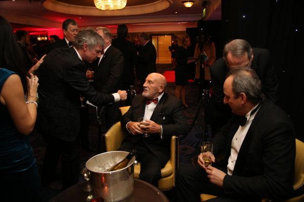 2016 Autosport Awards.  Grosvenor House Hotel, Park Lane, London. Sunday 4 December 2016.  Jason Plato and Sir Stirling Moss. World Copyright: Jed Leicester/LAT Images. ref: Digital Image JL3_9019