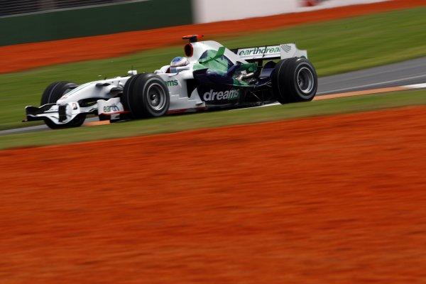 2008 Australian Grand Prix - Friday PracticeAlbert Park, Melbourne, Australia.14th March 2008Jenson Button, Honda RA108. Action. World Copyright: Andrew Ferraro/LAT Photographicref: Digital Image _H0Y3556