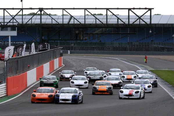 2017 Ginetta Racing Drivers Club, Silverstone, 11th-12th June 2017, Race Start Tom Golding Ginetta G40 leads. World copyright. JEP/LAT Images