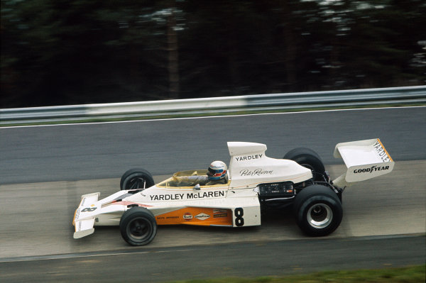 1973 German Grand Prix.  Nurburgring, Germany. 3-5th August 1973.  Peter Revson, McLaren M23 Ford.  Ref: 73GER72. World Copyright: LAT Photographic