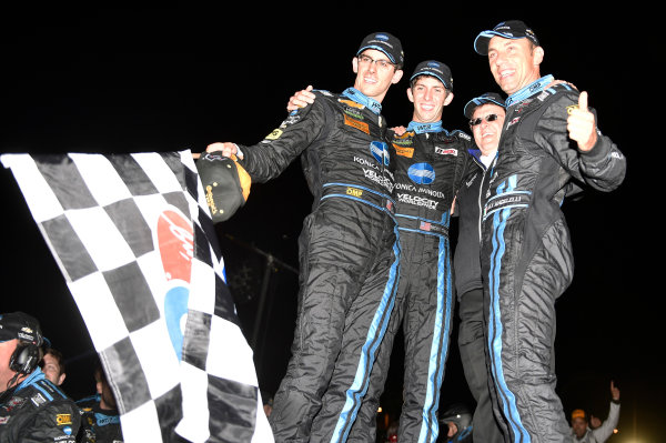 1-4 October, 2014, Braselton, Georgia USA 10, Chevrolet, Corvette DP, P, Ricky Taylor, Jordan Taylor, Max Angelelli celebrate their win in Victory Lane ©2014, Nigel Kinrade LAT Photo USA
