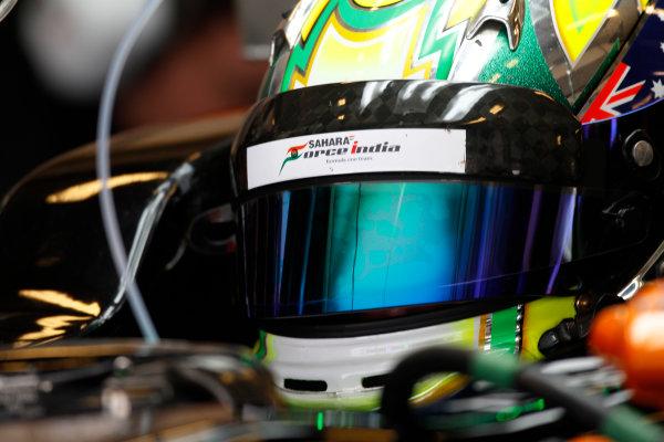Yas Marina Circuit, Abu Dhabi, United Arab Emirates. Wednesday 26 November 2014. Spike Goddard, Force India VJM07 Mercedes.  World Copyright: Sam Bloxham/LAT Photographic. ref: Digital Image _G7C9788