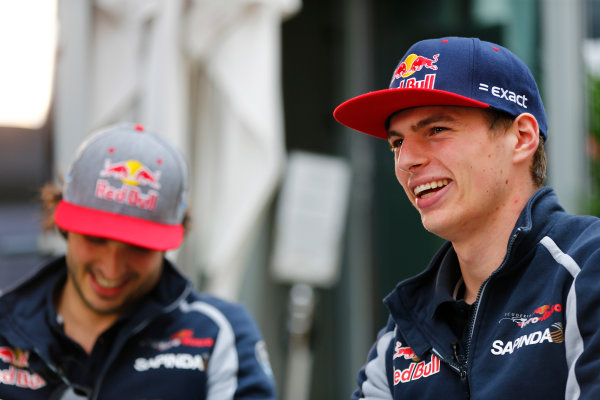Sochi Autodrom, Sochi, Russia. Friday 29 April 2016. Max Verstappen, Toro Rosso. World Copyright: Andy Hone/LAT Photographic ref: Digital Image _ONZ7354
